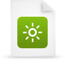 file document paper green g37836 Png Icon