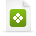 file document paper green g38359 Png Icon