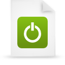 file document paper green g38420 Png Icon