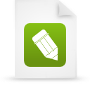 file document paper green g38802 Png Icon