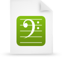 file document paper green g8620 Png Icon