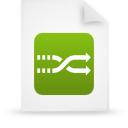 file document paper green g8687 Png Icon
