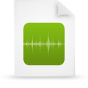 file document paper green g8769 Png Icon