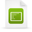 file document paper green g9539 Png Icon