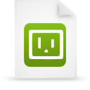 file document paper green g9590 Png Icon