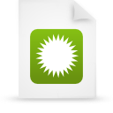 file document paper green g9692 Png Icon