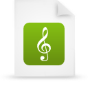 file document paper green g9712 Png Icon