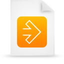 file document paper orange g11518 Png Icon