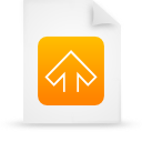file document paper orange g11542 Png Icon