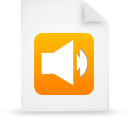 file document paper orange g11908 Png Icon