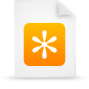 file document paper orange g11935 Png Icon