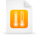 file document paper orange g11957 Png Icon