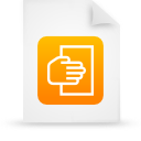 file document paper orange g12107 Png Icon