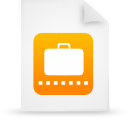 file document paper orange g12190 Png Icon