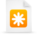 file document paper orange g12443 Png Icon