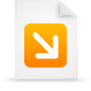 file document paper orange g12542 Png Icon