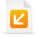 file document paper orange g12874 Png Icon