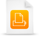 file document paper orange g12875 Png Icon