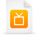 file document paper orange g12896 Png Icon