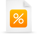 file document paper orange g12908 Png Icon
