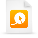 file document paper orange g13203 Png Icon