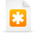 file document paper orange g13253 Png Icon