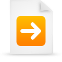 file document paper orange g13283 Png Icon