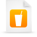 file document paper orange g13353 Png Icon