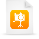 file document paper orange g13426 Png Icon