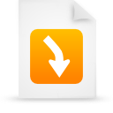 file document paper orange g13460 Png Icon