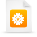 file document paper orange g13507 Png Icon