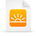 file document paper orange g13933 Png Icon