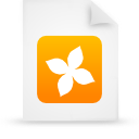 file document paper orange g14132 Png Icon