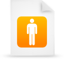 file document paper orange g14136 Png Icon