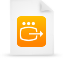 file document paper orange g14246 Png Icon