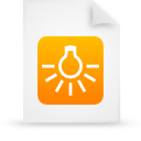 file document paper orange g14273 Png Icon