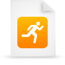 file document paper orange g14294 Png Icon