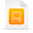 file document paper orange g14302 Png Icon