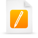 file document paper orange g14314 Png Icon