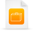 file document paper orange g14339 Png Icon