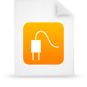 file document paper orange g14363 Png Icon