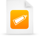 file document paper orange g14375 Png Icon