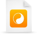 file document paper orange g14550 Png Icon