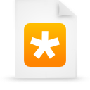 file document paper orange g14572 Png Icon