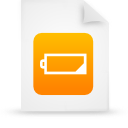 file document paper orange g14594 Png Icon