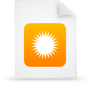 file document paper orange g14628 Png Icon