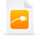 file document paper orange g14840 Png Icon