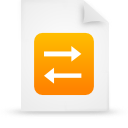 file document paper orange g14852 Png Icon