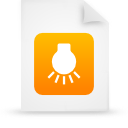 file document paper orange g14895 Png Icon