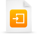 file document paper orange g14959 Png Icon